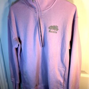 M Roots pink pullover sweater